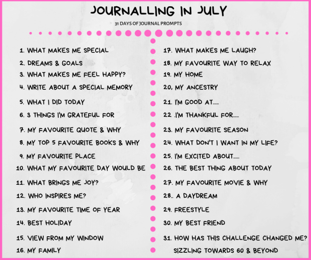 Journaling in July