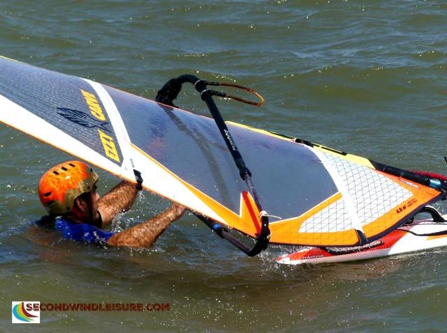 Windsurfer and sail