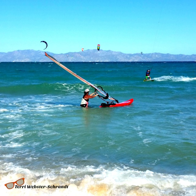 Windsurfing in Baja