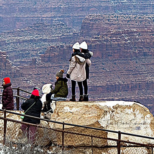 Tourists at Grand Canyon