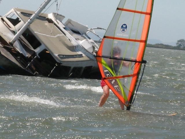 windsurfing downhill