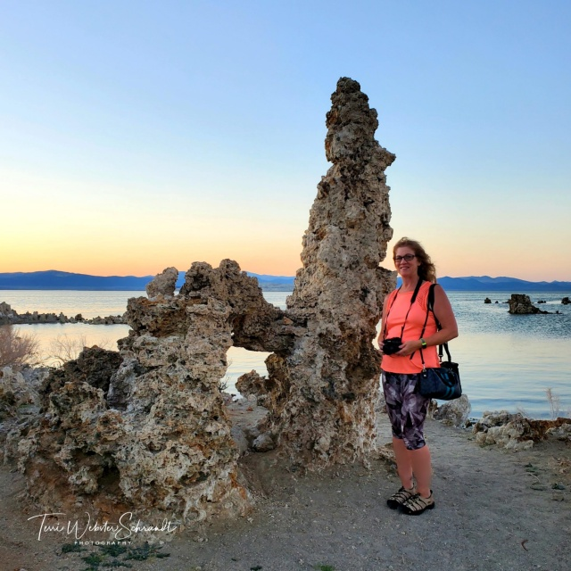 Standing beside Mono Lake