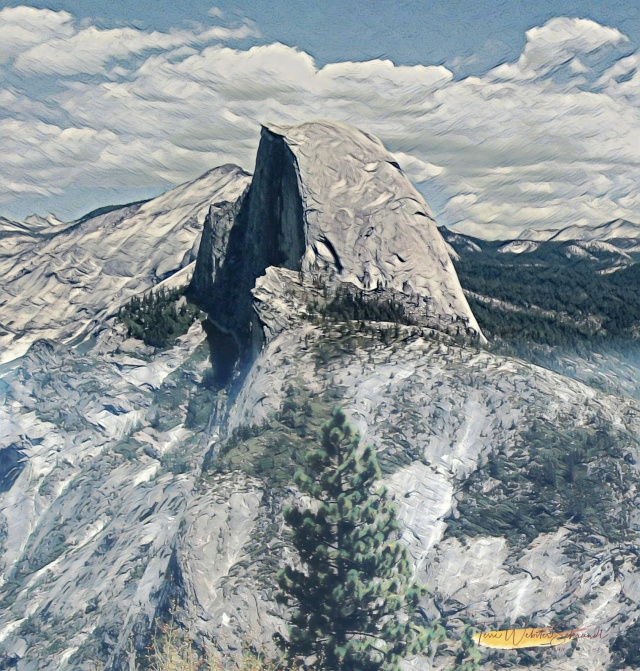 Painnted Half Dome