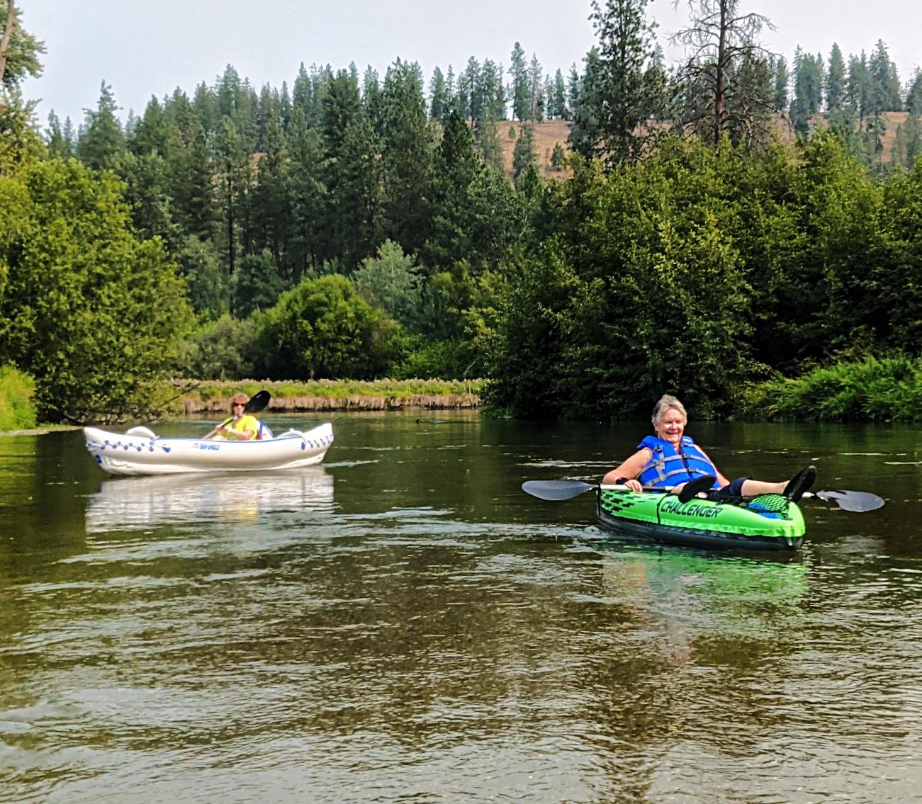 Kayaking on Little Spokane River