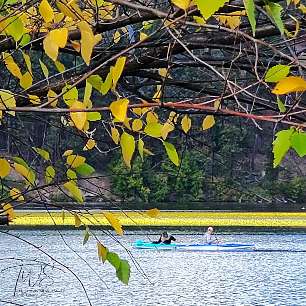Late summer kayaking Lake Spokane