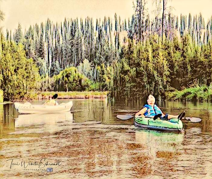 August Kayaking Little Spokane River